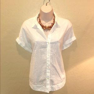 Lucky Brand White Button Down Shirt Size S